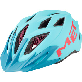 MET Crackerjack Casco Niños, light blue/magenta